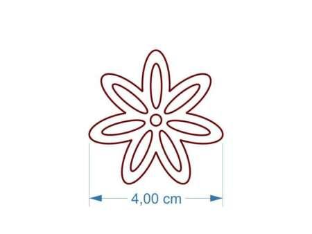Cercei decupati floare dimensiuni