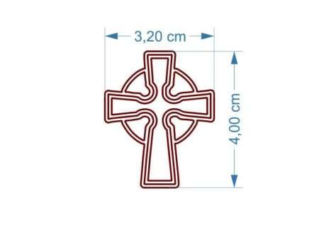 Cercei din lemn Cruce dimensiuni