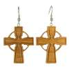 Cercei din lemn Cruce stejar