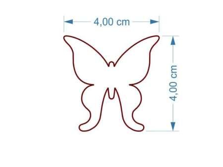 Cercei din lemn Fluture dimensiuni