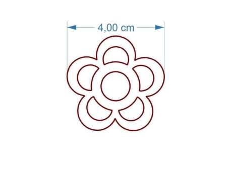 Cercei floare din lemn dimensiuni