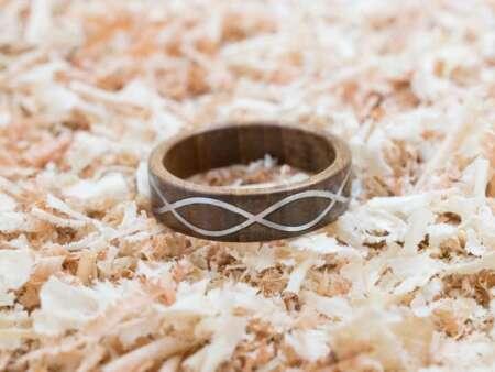 Inel din lemn Infinity Metal 1