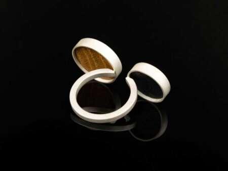 Inel din argint 925 cu lemn Circles 1