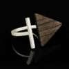 Inel din argint cu lemn Step