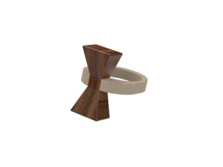 Inel din lemn Papion 1
