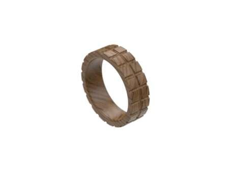 Inel din lemn pătrățele
